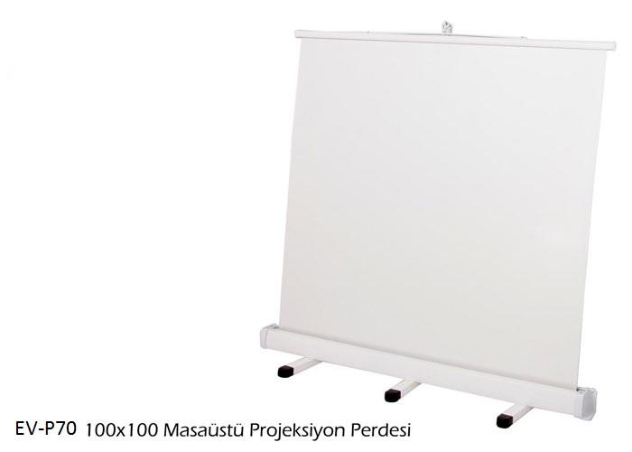 Everest EV-P70 100*100 Masaüstü Portatif Projeksiyon Perdesi