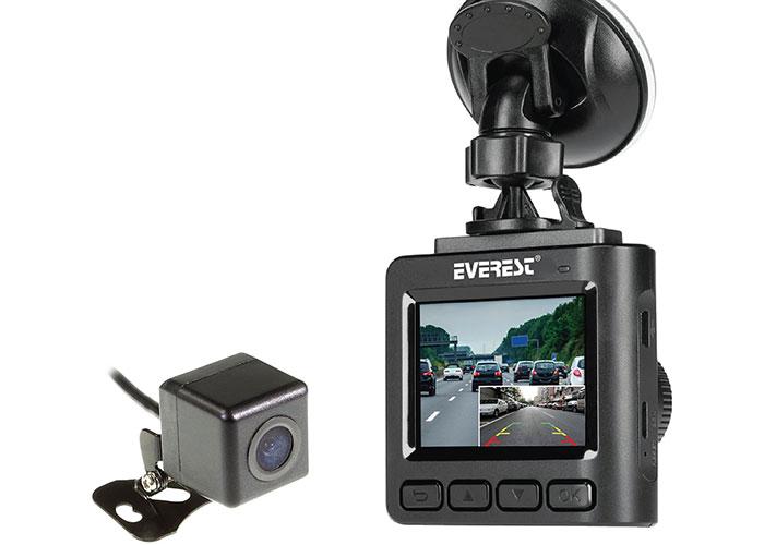 Everest EVERCAR X19 2.0 TFT Ekran 2.0MP/1.0MP 130° Geniş Açı G-Sensor 1080P/960P Ön/Arka Araç İçi Kamera