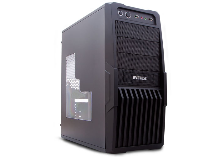 Everest 9620 Real-300W Peak-350W Siyah 12cm 2*Usb 2.0 Kasa