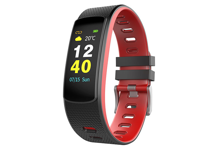 Everest Ever Fit W45 Android / IOS Full Touch Color Screen Red / Black Smart Wristband