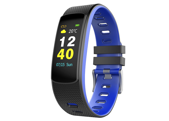 Everest Ever Fit W45 Android / IOS Full Touch Color Screen Blue / black Smart Wristband