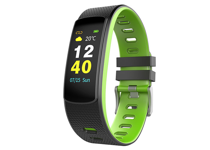Everest Ever Fit W45 Android / IOS Full Touch Color Screen Green / Black Smart Wristband