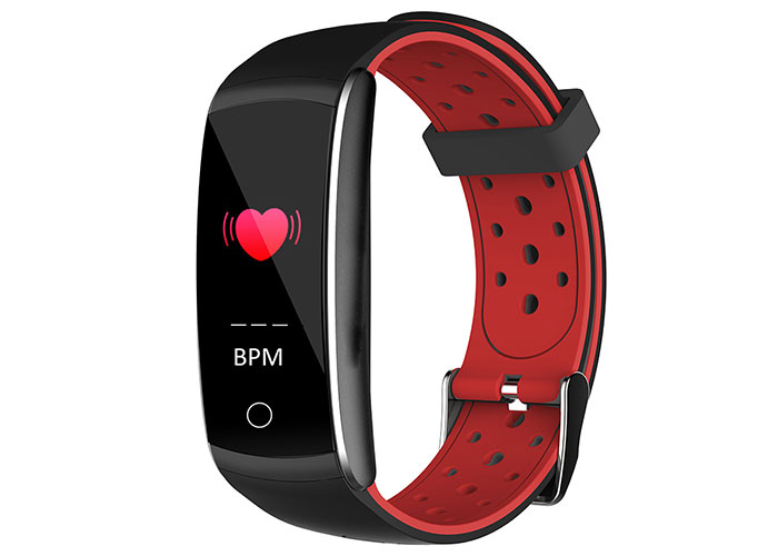 Everest Ever Fit W49 Android / IOS Red / Black Smart Wristband with Heart Rate Sensor