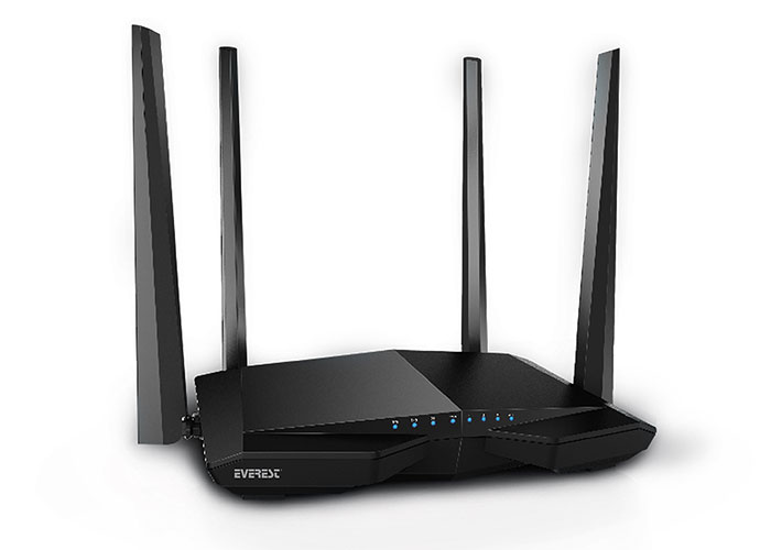 Everest EWR-AC66 802.11ac Dual-Band 1200Mbps 1 * FE WAN + 3 * FE LAN Wireless Router (23231)