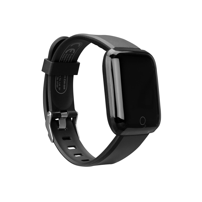 Everest Ever Watch EW-508 Android/IOS Smart Watch Kalp Atışı Sensörlü Siyah Akıllı Saat