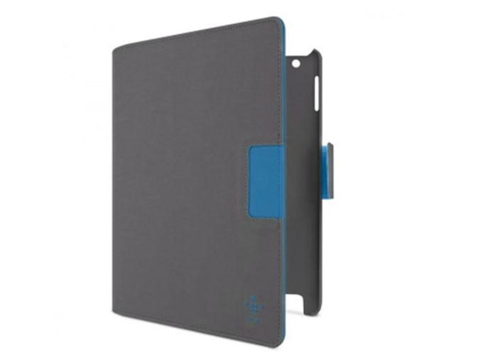 Belkin BLK-F8N754CWC02 Poliüretan Süet Autowake Pembe/Açık Gri Tablet Pc Kılıfı