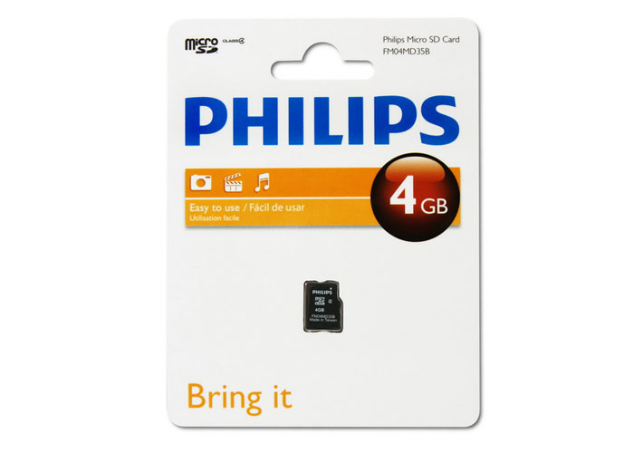 Philips FM04MD35B/97 4 Gb Class4 Micro SD Kart Bellek Kutulu