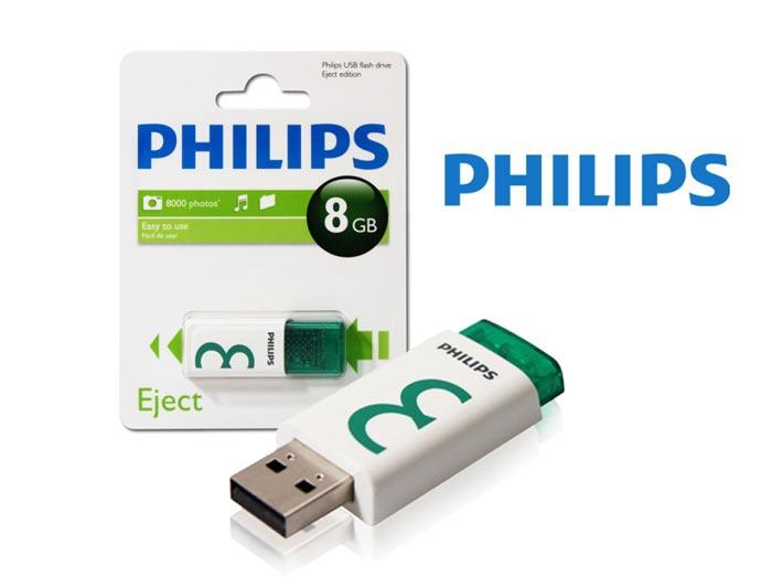 Philips FM08FD60B/97 8 Gb Eject 2.0 UFD Flash Driver Bellek