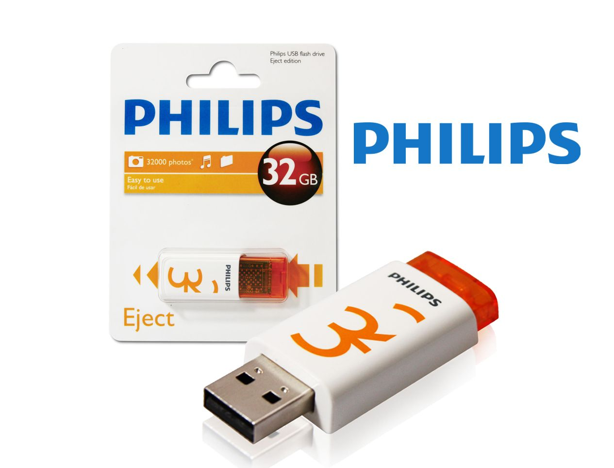 Philips FM32FD60B/97 32 GB Eject 2.0 Flash Driver Bellek