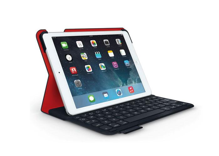 Logitech Folio Ultrathin iPad Air Lacivert/Kırmızı Klavye + Koruma Kılıfı