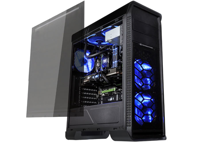 Xigmatek Frontliner EN8774 Siyah Usb 3.0 Tam Boy Pencereli+ 3 Adet 12cm Mavi Led Fanlı Atx Kasa