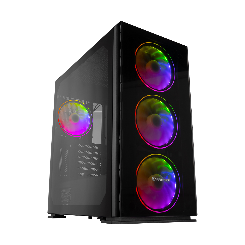 Rampage HECTORA GLASS 4 Adet 14cm ARGB Fanlı 700W 80Plus Bronze Tempered Camlı Gaming Oyuncu Kasası