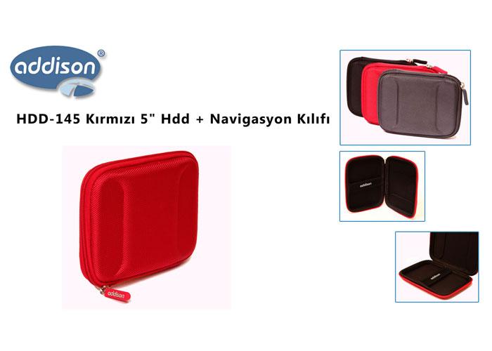 Addison HDD-145 Kırmızı 5 Hdd + Navigasyon Kılıfı
