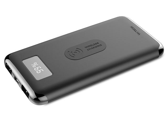Hytech HP-C10W 10000mAh Powerbank 2 Usb Port Siyah Kablosuz Taşınabilir Pil Şarj Cihazı