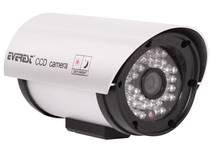 Everest HV-706 Sony CCD Sensör 4.9mm 420TVL Ir Digital Color 36 Ledli Güvenlik Kamerası