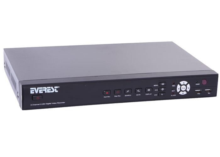 Everest HV-908 8Ch Görüntü H.264 8Ch Ses DVR Kayıt Cihazı