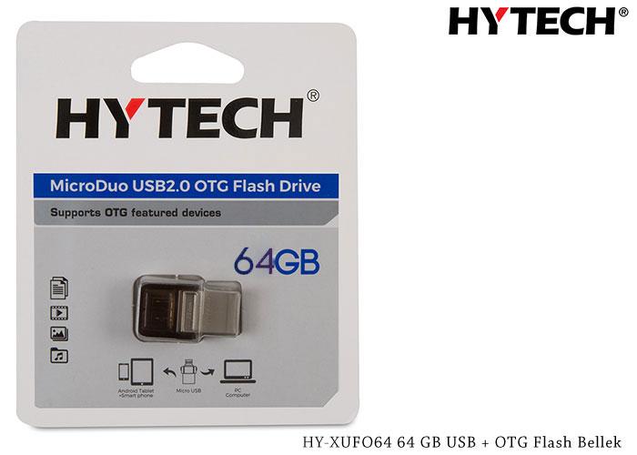 HYTECH HY-XUFO64 64 GB USB + MICRO OTG Flash Bellek Flash Bellek