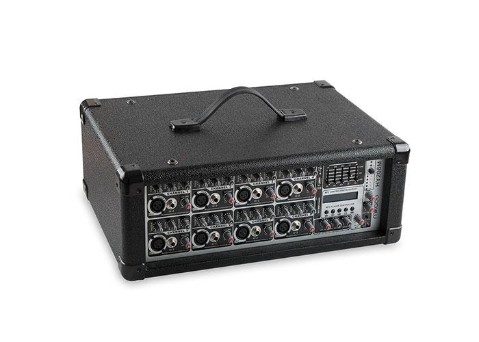 Mikado HY208M 150W x2 Siyah Usb Mp3 Destekli 8 Kanal Mixer Amplifikatör