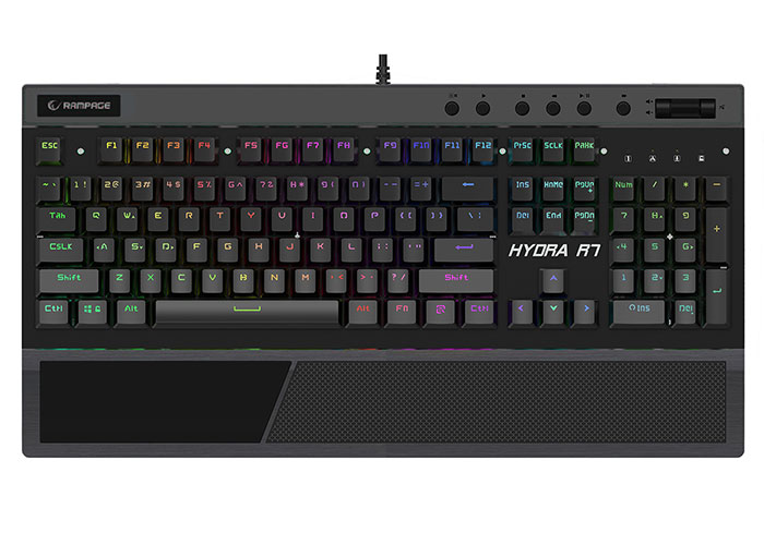 Everest Rampage Hydra R7 USB Full RGB Aydınlatmalı Optik US Layout EXP Multimedia Gaming Pro Mekanik Klavye