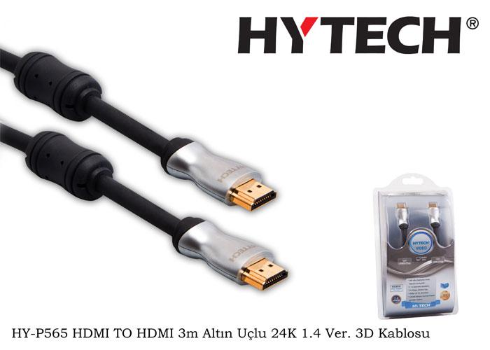 Hytech HY-P565 HDMI TO HDMI 3m Altın Uçlu 24K 1.4 Ver. 3D Kablosu