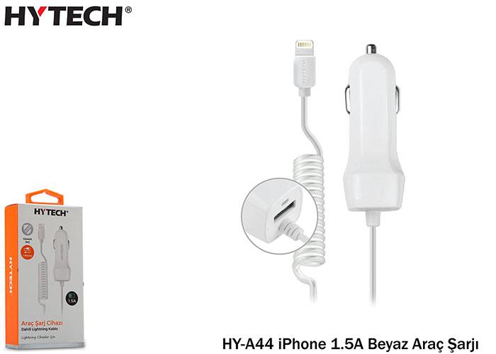 Hytech HY-A44 iPhone 1.5A Beyaz Araç Şarjı