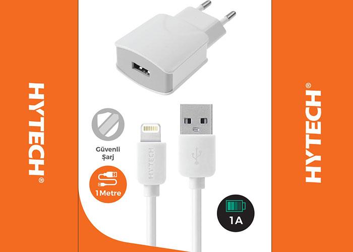 Hytech HY-A82 5V 1A iPhone Kablolu Ev Şarj Cihazı