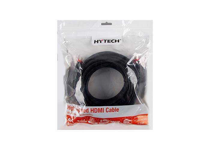 Hytech HY-HDM15 HDMI TO HDMI 15m Altın Uçlu 24K 1.4 Ver. 3D Kablosu
