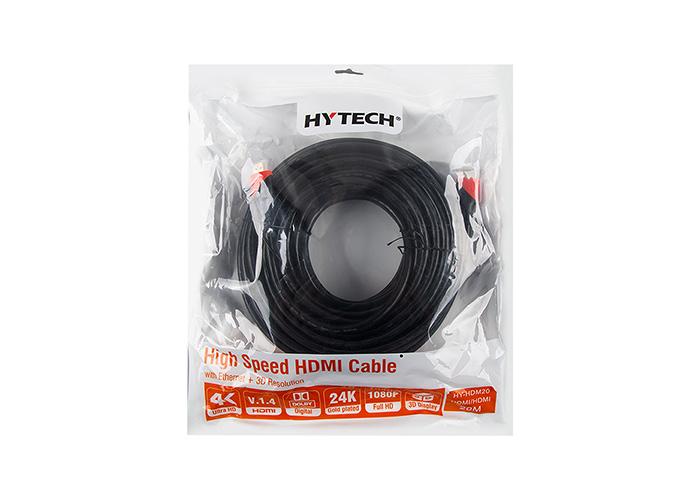 Hytech HY-HDM20 HDMI TO HDMI 20m Altın Uçlu 24K 1.4 Ver. 3D Kablosu