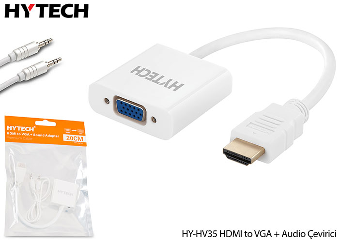 Hytech HY-HV35 HDMI to VGA + Audio Çevirici