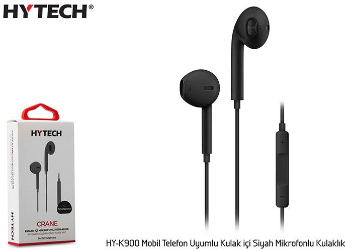 Hytech HY-K900 Mobil Telefon Uyumlu Kulak içi Siyah Mikrofonlu Kulaklık