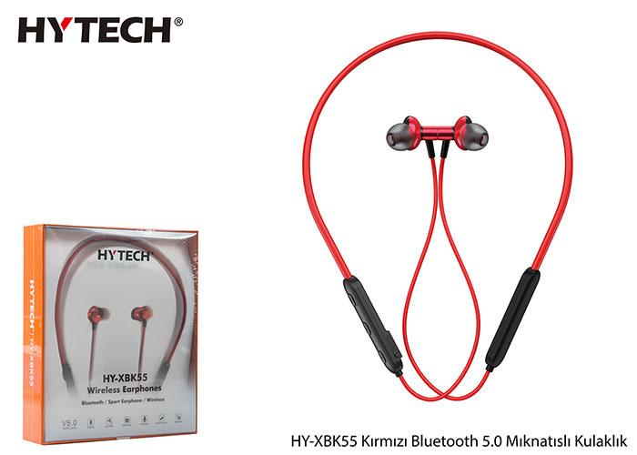 Hytech HY-XBK55 Boyun Askılı Mıknatıslı Bluetooth Spor Kulak içi Kırmızı Kulaklık  Mikrofon