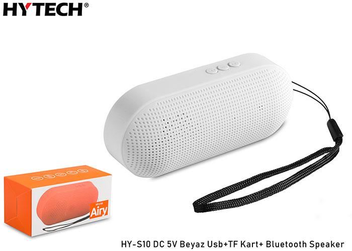 Hytech HY-S10 DC 5V Beyaz Usb+TF Kart+ Bluetooth Speaker