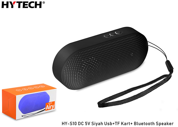 Hytech HY-S10 DC 5V Siyah Usb+TF Kart+ Bluetooth Speaker
