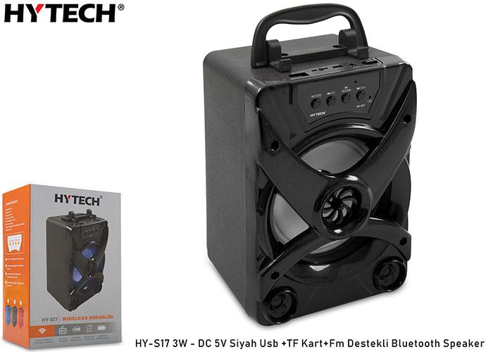 Hytech HY-S17 3W - DC 5V Siyah Usb +TF Kart+Fm Destekli Bluetooth Speaker