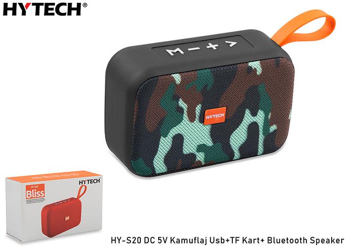 Hytech HY-S20 DC 5V Bluetooth Speaker Kamuflaj Usb+TF Kart+