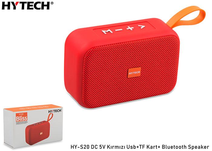 Hytech HY-S20 DC 5V Bluetooth Speaker Kırmızı Usb+TF Kart+