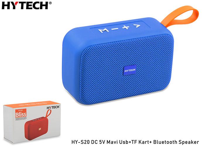 Hytech HY-S20 DC 5V Bluetooth Speaker Mavi Usb+TF Kart+