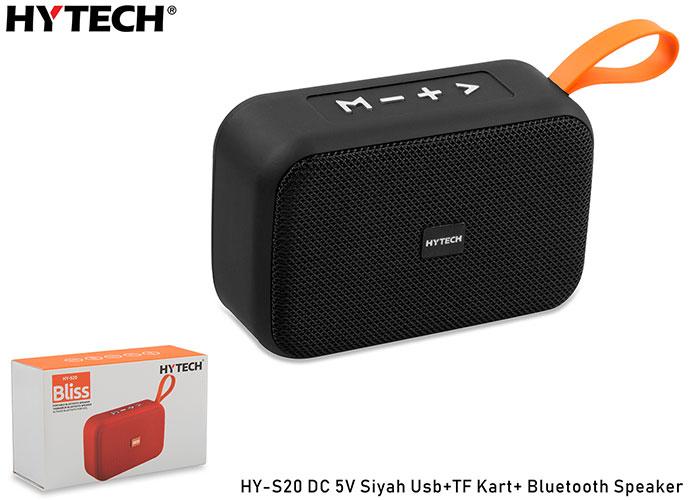 Hytech HY-S20 DC 5V Bluetooth Speaker Siyah Usb+TF Kart+