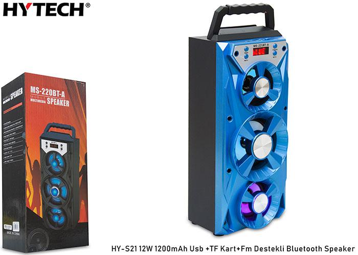 Hytech HY-S21 12W 1200mAh Karışık Usb +TF Kart+Fm Destekli Bluetooth Speaker