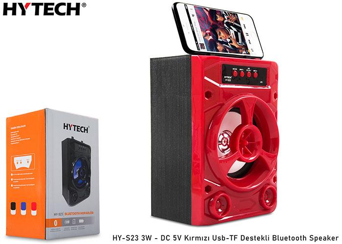 Hytech HY-S23 3W - DC 5V Kırmızı Usb-TF Destekli Bluetooth Speaker