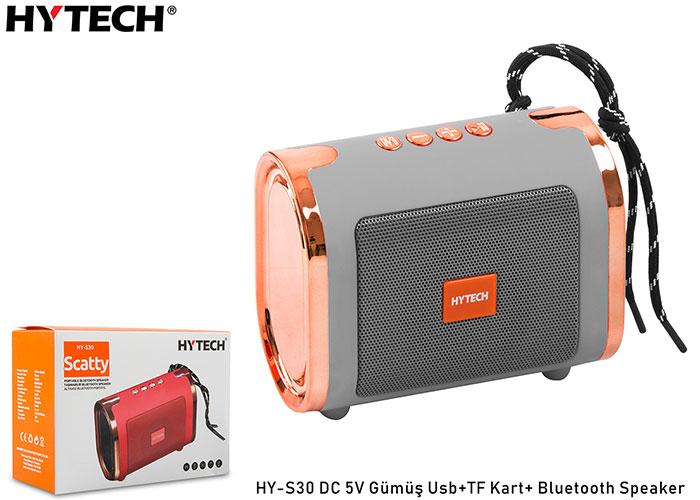 Hytech HY-S30 DC 5V Usb+TF Kart Gümüş Bluetooth Speaker