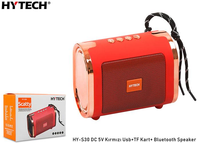 Hytech HY-S30 DC 5V Kırmızı Usb+TF Kart+Bluetooth Speaker