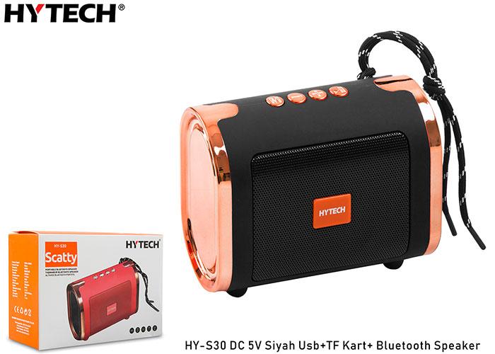 Hytech HY-S30 DC 5V Siyah Usb+TF Kart+Bluetooth Speaker