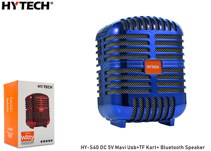 Hytech HY-S40 DC 5V Bluetooth Speaker Mavi Usb+TF Kart+