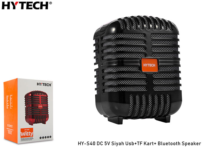 Hytech HY-S40 DC 5V Bluetooth Speaker Siyah Usb+TF Kart+
