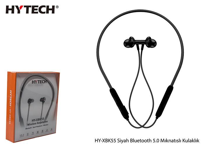 Hytech HY-XBK55 Boyun Askılı Mıknatıslı Bluetooth Spor Kulak içi Siyah Kulaklık  Mikrofon