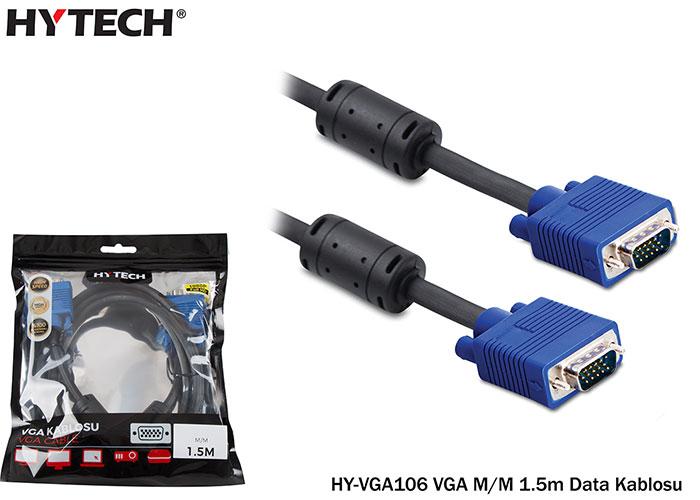 Hytech HY-VGA106 VGA M/M 1.5m Data Kablosu