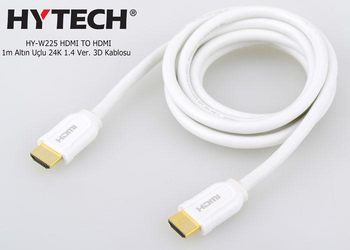 Hytech HY-W225 HDMI TO HDMI 1m Altın Uçlu 24K 1.4 Ver. 3D Kablosu