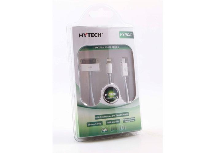 Hytech HY-W307 Usb to Micro Usb Samsung Galaxy Tab Şarj 3Lü Çakmak Çok/Usb Şarj Aleti
