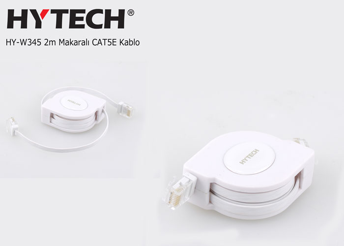 Hytech HY-W345 2m Makaralı CAT5E Kablo